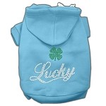 Lucky Rhinestone Hoodies Baby Blue XL (16)